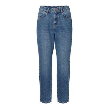 Noisy May Noisy May High Waist Ankle Mom Jeans Blauw