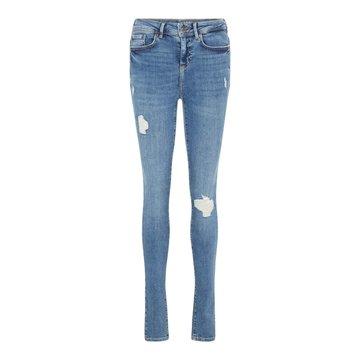 Noisy May Noisy May Skinny Jeans Medium Blauw