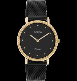 Oozoo Timepieces Oozoo Horloge Mesh Zwart-Rosé