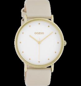 Oozoo Timepieces Oozoo Horloge Goud-Wit