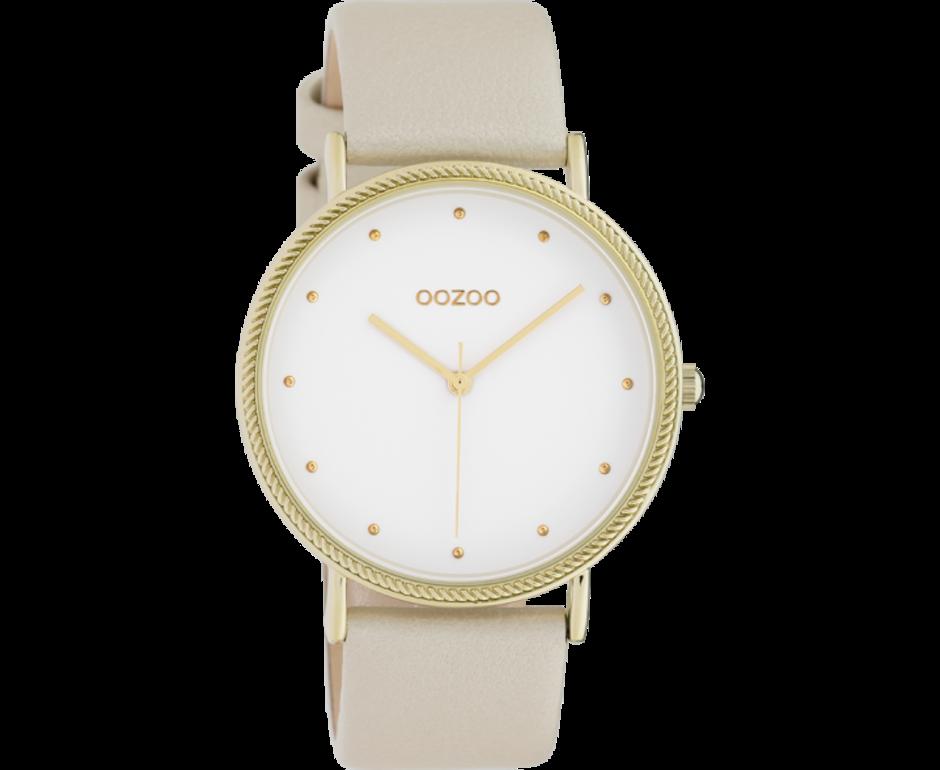Oozoo Timepieces Oozoo Horloge Goud-Wit C10416