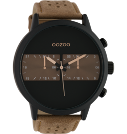 Oozoo Timepieces Oozoo Horloge Brown-Black C10302
