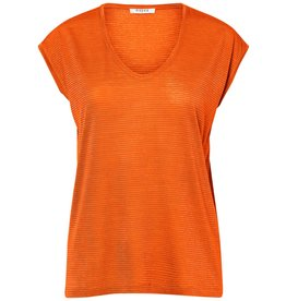 Pieces Pieces PC Billo Tee Lurex Stripes Orange