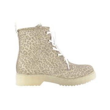Fabs Shoes Fabs Shoes Enkellaars Panterprint Beige