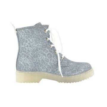 Fabs Shoes Fabs Shoes Enkellaars Panterprint Grijs