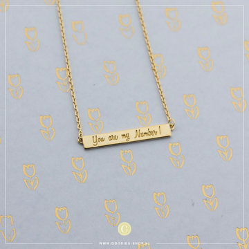 Imotionals Ibiza Plates Ketting 'You are my number 1' Goudkleurig