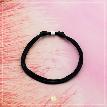 Imotionals Imotionals Silk Cords Met Blok Letter U Zilver