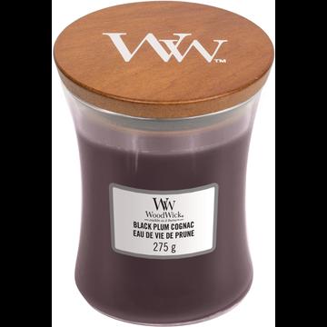 WoodWick WoodWick Black Plum Cognac Medium Candle