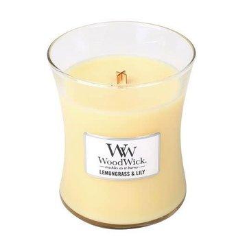 WoodWick WoodWick Lemongrass & Lilly Medium Candle