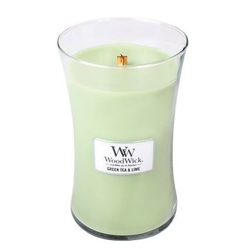 WoodWick WoodWick Green Tea & Lime Large Candle