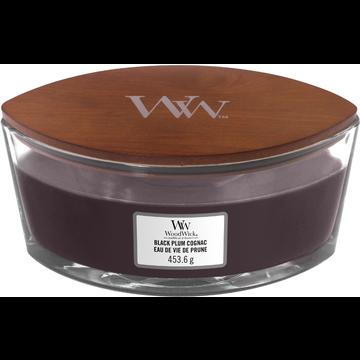 WoodWick WoodWick Black Plum Cognac Ellipse Candle