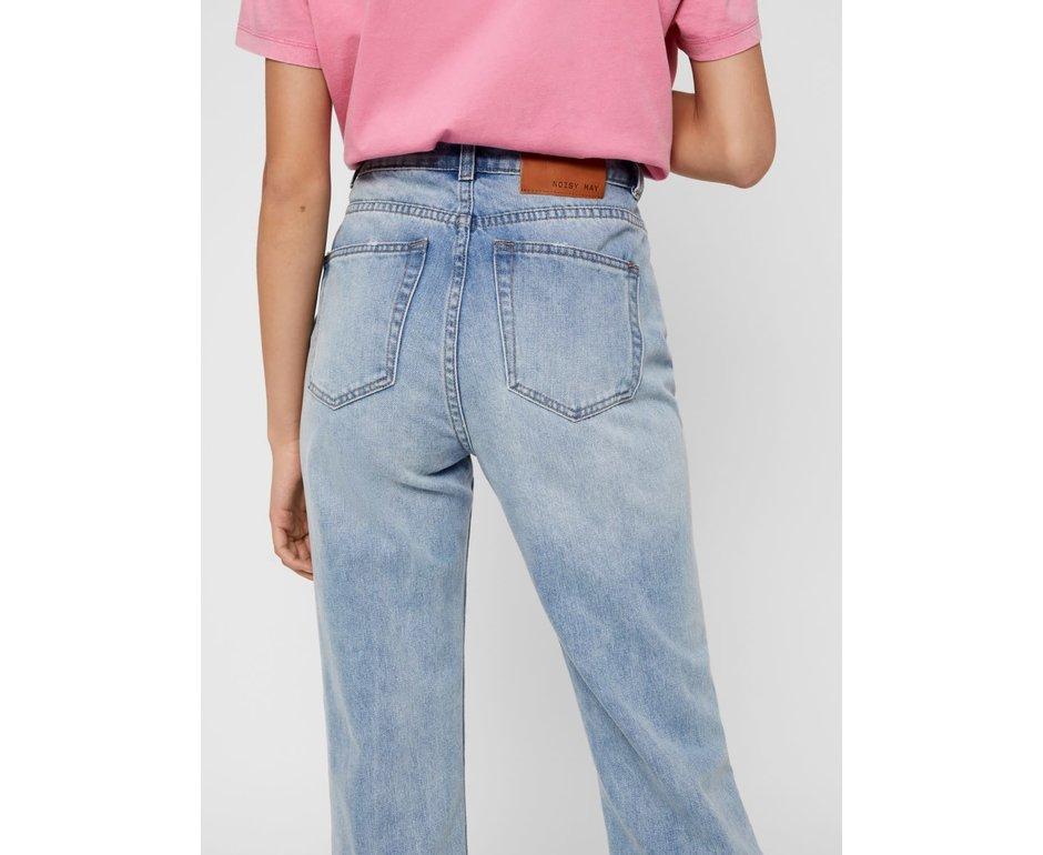 Noisy May Noisy May NM Isabel HW Ankle Mom Dstr Jeans light Blue Denim
