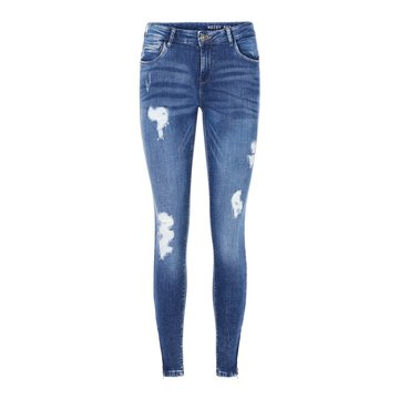 Noisy May Noisy May Ankle Denim Jeans Medium Blauw