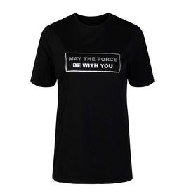 Pieces Pieces Zwart T-Shirt Met Tekst