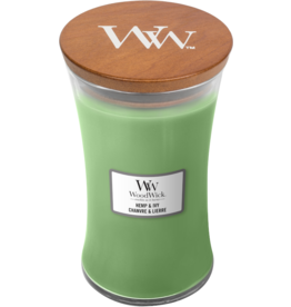 WoodWick WoodWick Hemp & Ivy Large Candle