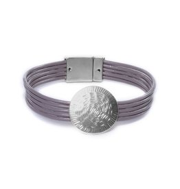 Bibi Armband Zilverkleurig, Dubbel Koord Met Bedel