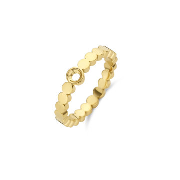 Melano Melano Twisted Wave Ring Goudkleurig