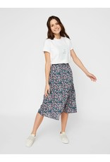 Pieces Pieces Midi Skirt Bloemen Blauw Noemi