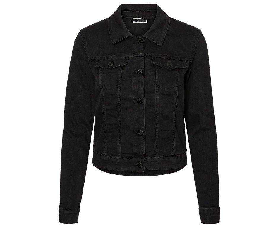 Noisy May Noisy May Black Wash Denim Jacket Debra