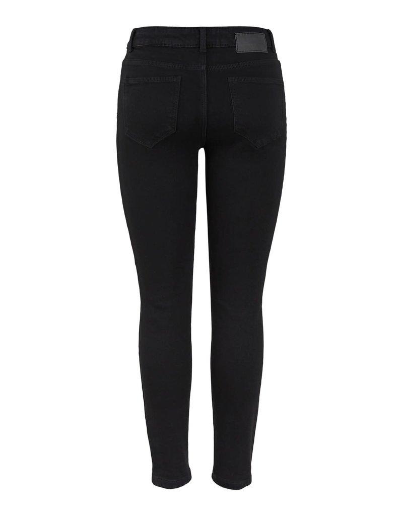 Pieces Pieces PC Kamelia Skinny Ankle Jeans Black Denim