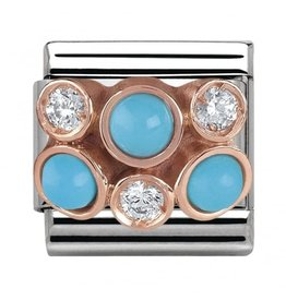 Nomination Nomination Link 430307/04 Cluster with Turquoise