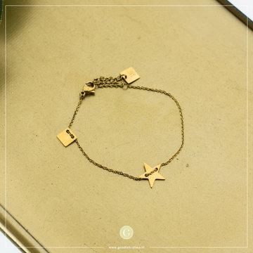 Zag Bijoux Zag Bijoux Goudkleurige Armband Ster