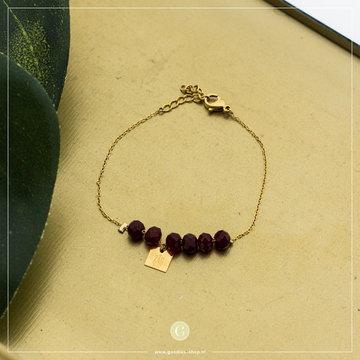 Zag Bijoux Zag Bijoux Armband Rode Beads
