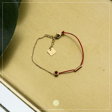 Zag Bijoux Zag Bijoux Armband Rood Silk Koord