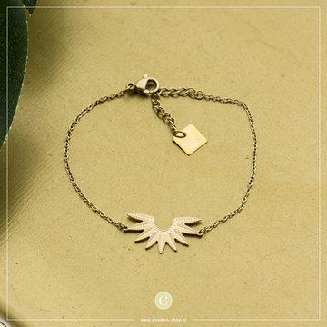 Zag Bijoux Zag Bijoux Bracelet Leaf Goudkleurig