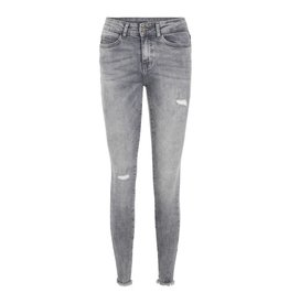 Noisy May Noisy May Licht Grijze Ankle Jeans