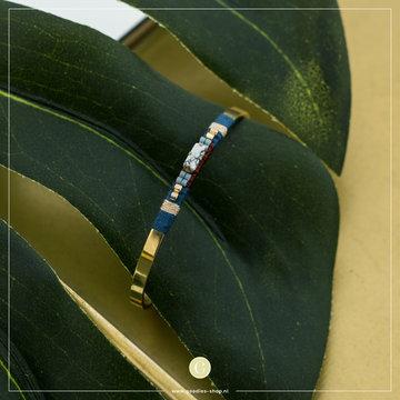 Zag Bijoux Zag Bijoux Bracelet Spang  Marble Bead Gold
