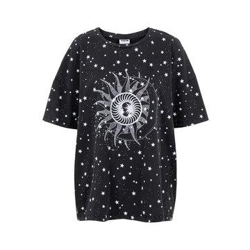 Noisy May Noisy May Oversized Shirt Zwart Sterren & Zon