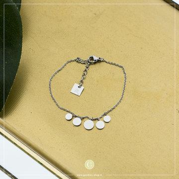 Zag Bijoux Zag Bijoux Bracelet Tiny Coins Zilverkleurig