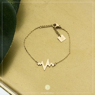 Zag Bijoux Zag Bijoux Armband Heartbeat Goudkleurig