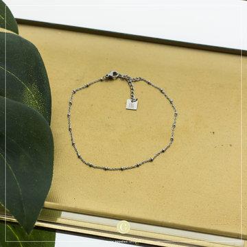 Zag Bijoux Zag Bijoux Zilverkleurig Enkelbandje Met Dots