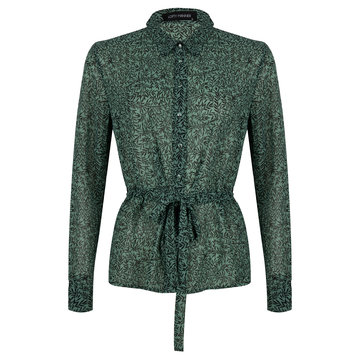 Lofty Manner Lofty Manner Blouse Bladeren Groen