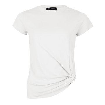 Lofty Manner Lofty Manner T-Shirt Met Knoop Wit