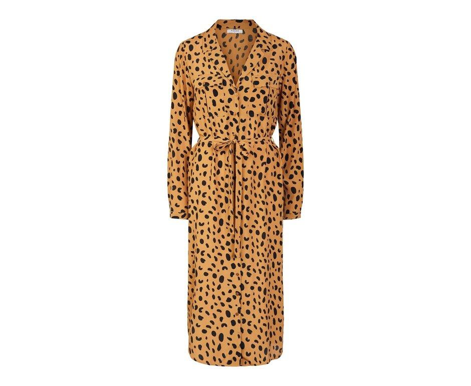 Pieces Pieces PC Penny Midi Shirt Dress Meerkat