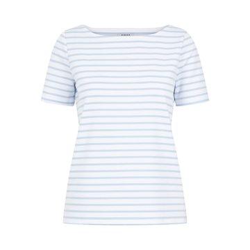 Pieces Pieces T-Shirt Met Strepen Blauw/Wit