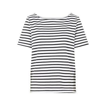 Pieces Pieces T-Shirt Met Strepen Wit/Zwart
