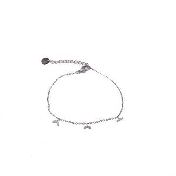 Go Dutch Label GDL Zilverkleurige Armband Met 3 Bedels