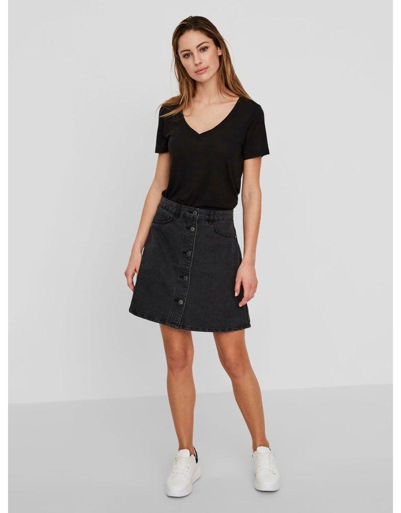 Noisy May Noisy May NM Sunny Denim Skater Skirt Black