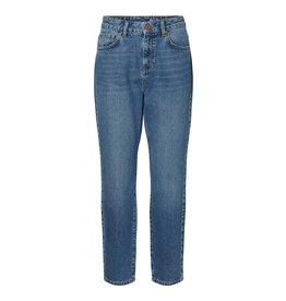 Noisy May Noisy May High Waist Ankle Jeans Medium Blue
