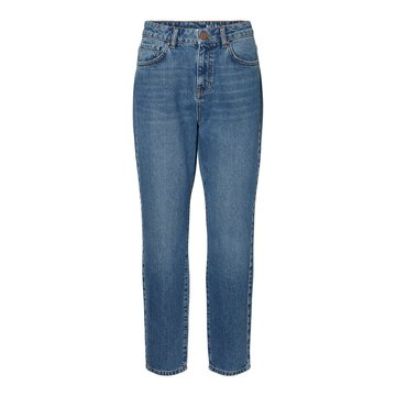 Noisy May Noisy May High Waist Ankle Jeans Medium Blue