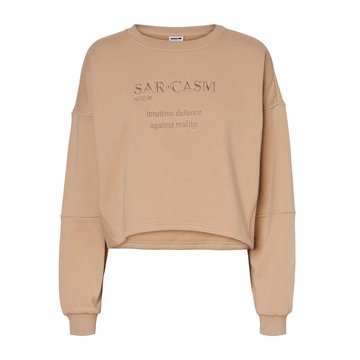 Noisy May Noisy May Crop Sweater Nude 'Sarcasm'