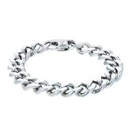 AZE Jewels Aze Jewels Zilverkleurige Schakelarmband 21cm