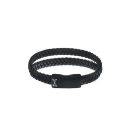 AZE Jewels Aze Jewels Dubbele Armband Zwart  19.5cm