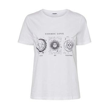 Noisy May Noisy May T-Shirt Wit Zon & Maan