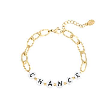 Goodies Goodies Goudkleurige Armband Beads Chance