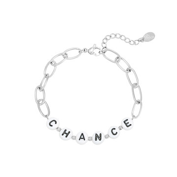 Goodies Goodies Zilverkleurige Armband Beads Chance